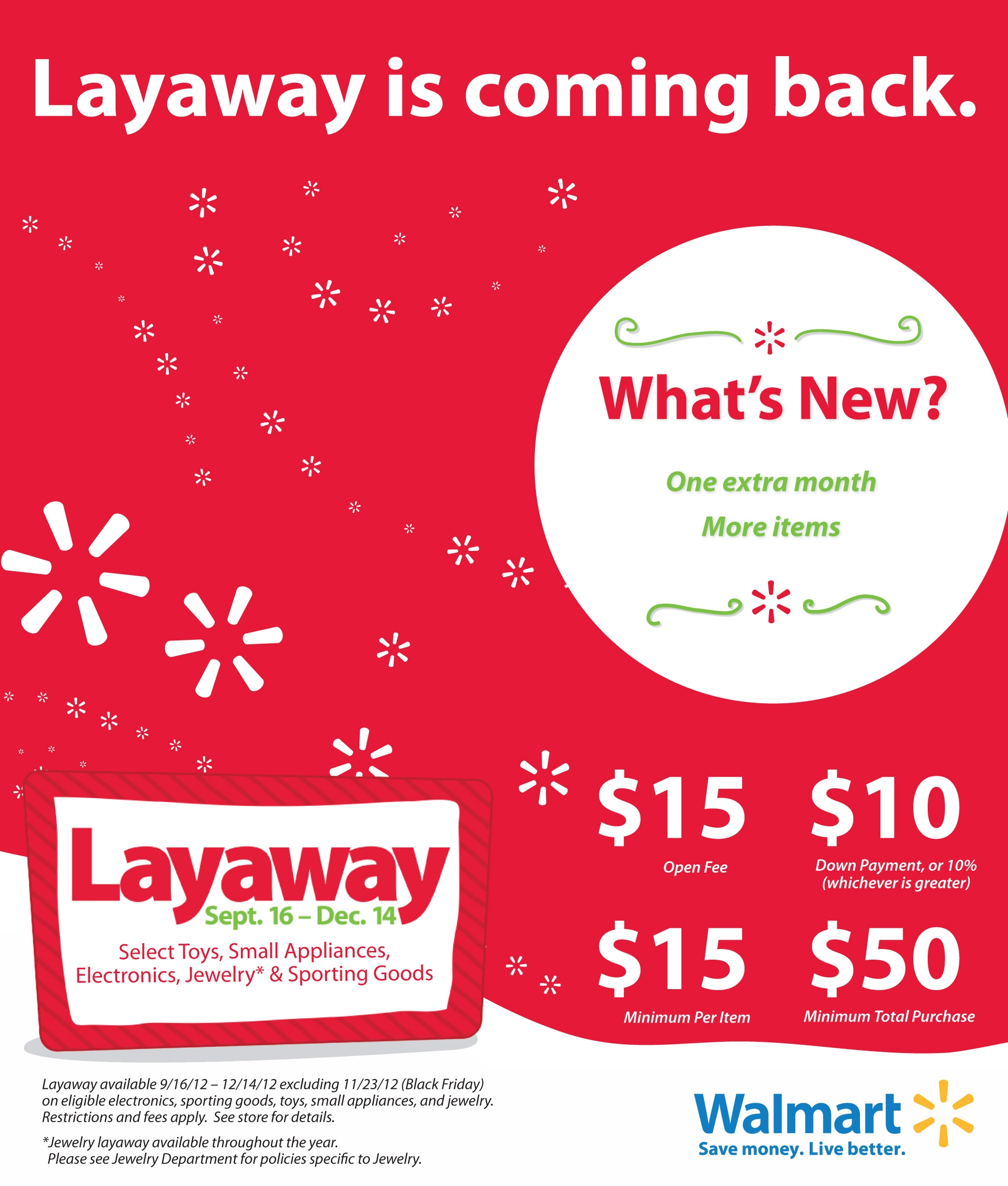 Is Wal Mart Open On Christmas.Christmas Layaway Is Back And Better At Walmart